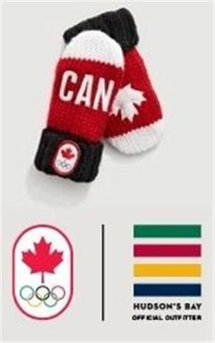 Canada Olympic Red and White HBC Canada Exclusive 2014 Mittens Sochi 2014