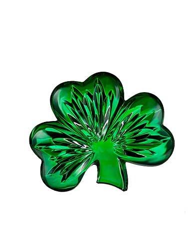 Waterford Green Shamrock Paperweight