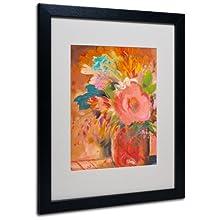 Copper Vase 3 Matted Framed Art by Sheila Golden in Black Frame, 16 by 20-Inch