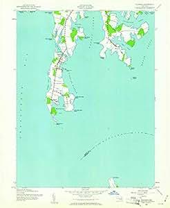 Amazon.com : YellowMaps Tilghman MD topo map, 1:24000 Scale, 7.5 X ...