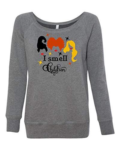 LivingTees I Smell Children Hocus Pocus Sanderson Sister Women's Halloween Costume Sweatshirt