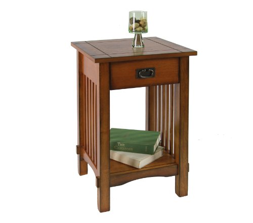 Liverpool 1-Drawer End Table, Antique Oak ()