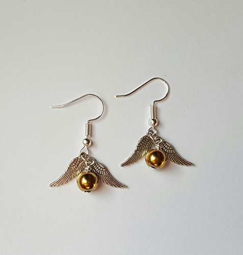 The Golden Snitch Halloween Costume (Golden Snitch Earrings)