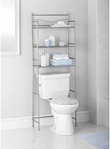 3 Shelf Over ORB Toilet Bathroom Space Saver Towel Storage Rack Organizer UUSA