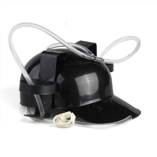 Dcolor Casque a Biere en Plastique Noir Drinking Cap Helmet Beer Coke Hat