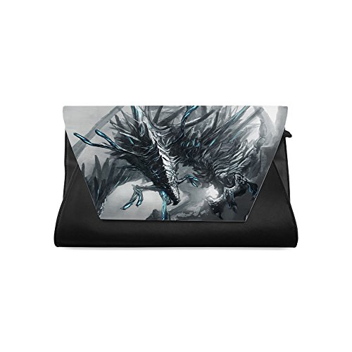 Clutch Bags for Women, Dragon Printed Clutch bag, One-side Printing ()