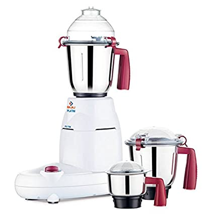 aac2b52d0ee Image Unavailable. Image not available for. Colour  Bajaj Platini Px77M  750W Mixer Grinder