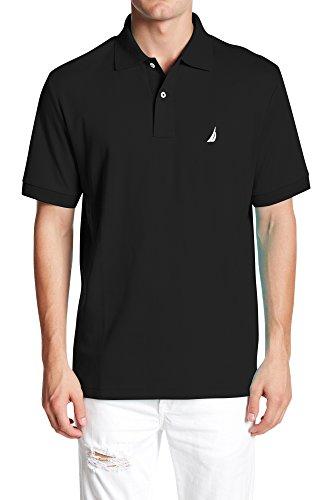 nautica-mens-standard-classic-fit-short-sleeve-solid-soft-cotton-polo-shirt-true-black-medium