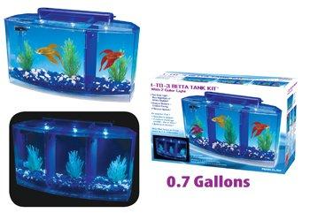 Picture of Penn Plax Deluxe Triple Betta Bow Aquarium Tank, 0.7-Gallon