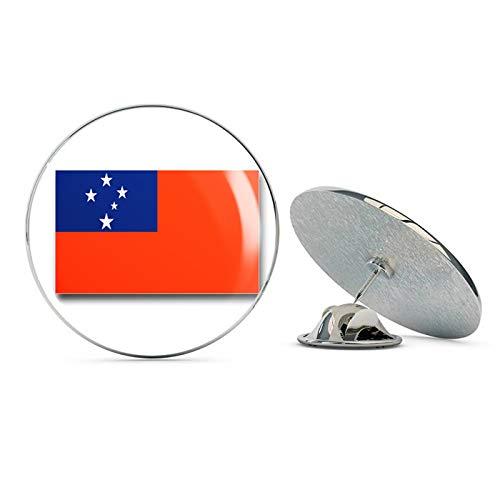 Samoa Lapel Pins (TG Graphics Samoa Flag Steel Metal 0.75