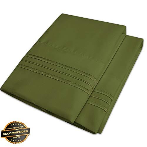 Gatton New Premium 1500 Series Microfiber Embroidered Solid Color Bedroom Pillowcase - 2 Pack | LINENIENHM-182012532 -