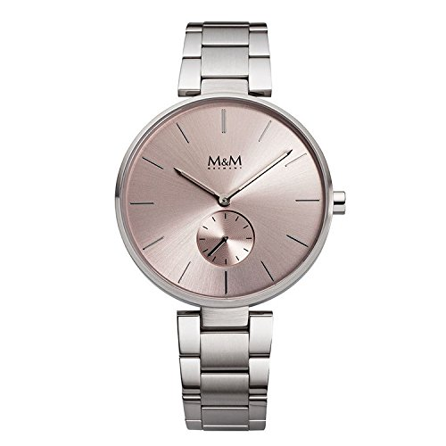Reloj - Metal Flat - Acero inoxidable - plata/rosé: Amazon ...
