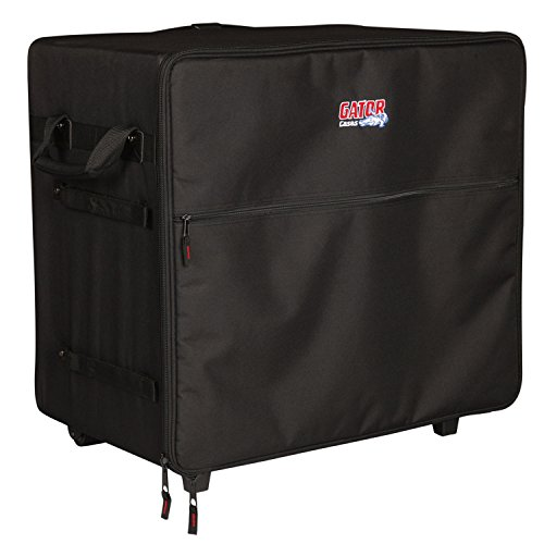 (Gator Cases Transport Series Speaker Case with Retractable Pull Handle and Wheels; Fits Small PA Systems (G-PA TRANSPORT-SM))