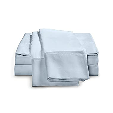 100% Egyptian Cotton Sheet Set - 1000 Thread Count | Single Ply - Sateen Weave | Set Includes One Flat Sheet, One Fitted Sheet & Two Pillowcases