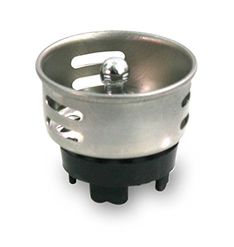 - Everflow 75511 Stainless Steel Junior Duo Strainer / Stopper (1.5 inch) - Replacement Basket for Bar and Prep Sinks Drains