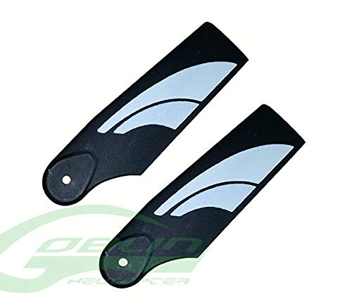 Goblin Black Blade - SAB 70mm Plastic Tail Blades (Black/White) - Goblin 380 #H0554-S Includes: - Plastic Tail Blades x 1set Use for: - Goblin 380