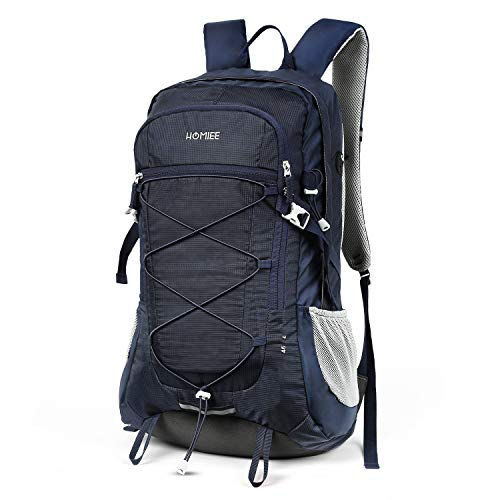 HOMIEE Trekking Bag, 45L Hiking Backpack Nylon Durable Travel Hiking Backpack Daypack for Climbing Camping Mountaineering Travel Outdoor Sport- Stylish Unique Water-Resistant