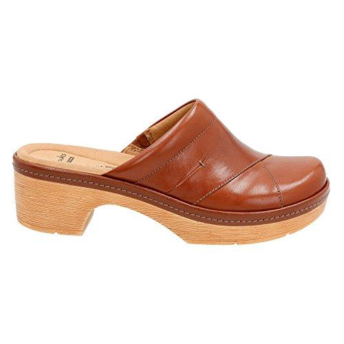 Clarks Kvinnor Preslet Glans Mule Tan Läder