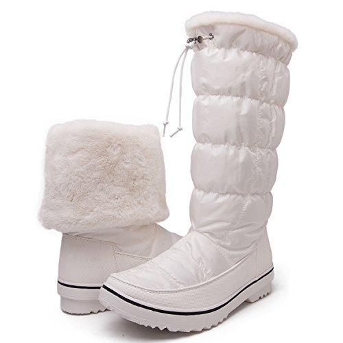GLOBALWIN GW Women's 1713 White Snow Boots 7.5 M (Nylon Snow Boots)
