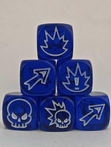 Impact! Miniatures Flaming Skull Dice - Gem Blue ()