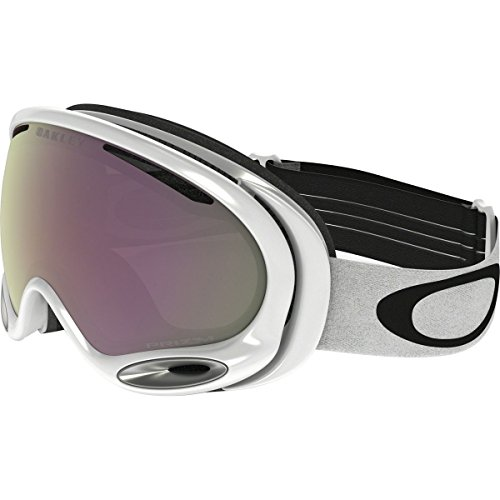 Oakley A-Frame 2.0 Goggles, Polished White, Prizm Hi Pink, Medium