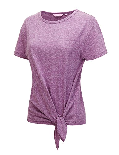 Regna X Love Coated Womens Cap Sleeve Loose fit Workout Active Top Margenta XL ()