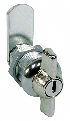 Different-Keyed Wing Handle Keyed Cam Lock, For Door Thickness (In.): 9/16