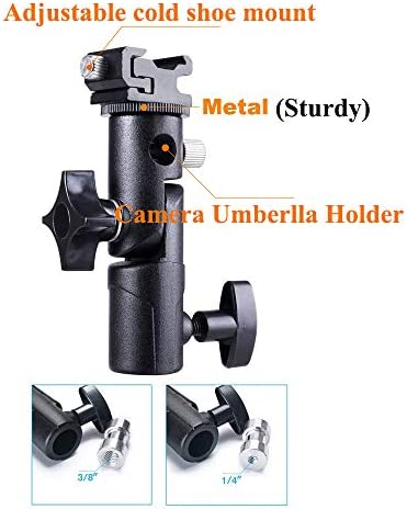LHIABNN Professional Camera Flash Speedlite Mount Universal Flash Light Stand Bracket with Umbrella Flash Light Holder for DSLR Flashes Studio Light LED Light