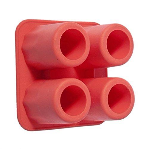Moule Shooter gla/çon en silicone rouge Verre gla/çons cocktail