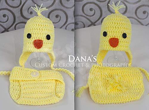 61f3f950c Easter Chick Spring Newborn Set Handmade Crochet Photo Prop Set ...