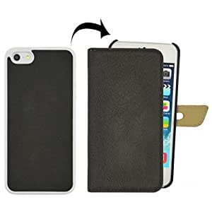 JUJEO Natural Texture Vertical Flip Leather Case for iPhone 5/5S - Non-Retail Packaging - Black
