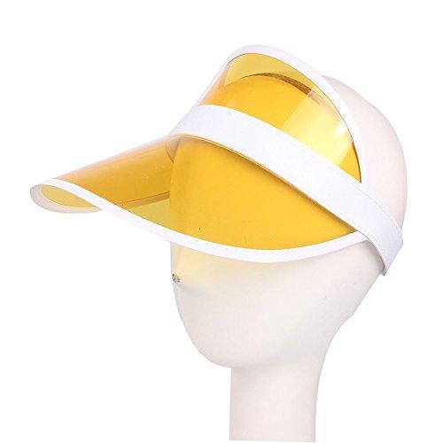 ViewHuge Sun Visor Hats for Kids,PVC Transparent Clear Outdoor UV Protection Hat Cap]()