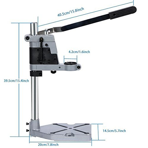 Drill Press Stand, Aluminum Cordless Multifunction Rotary Tool Drill Press Support Stand for Drill Workbench Repair by evokem (Image #2)