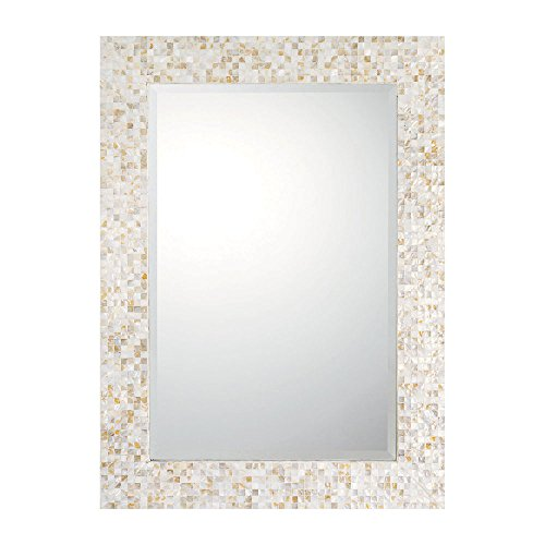Capital Lighting M362460 Decorative Mirror, Mother of Pearl Frame with Beveled - Framed Bathroom Mirrors Mother Pearl Of