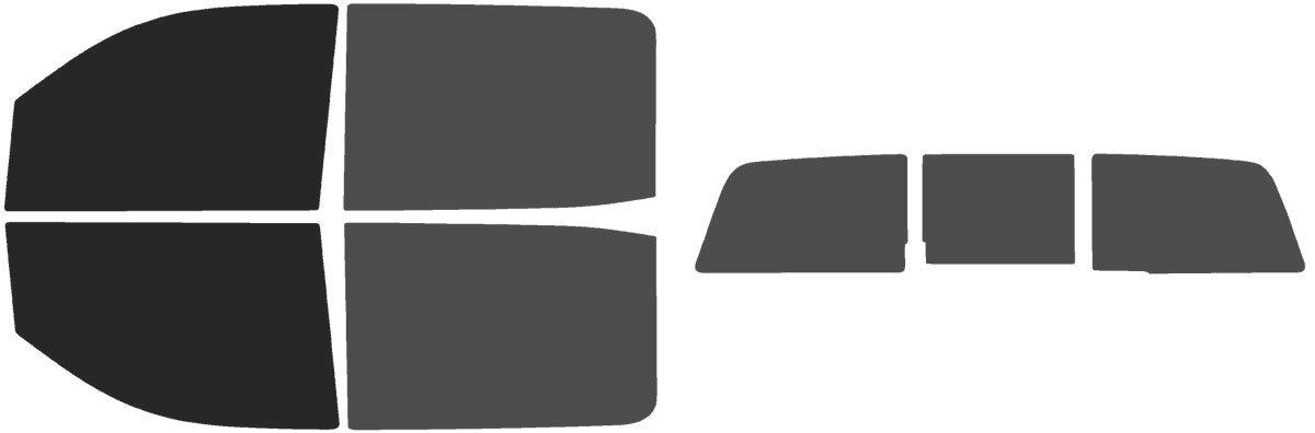 Precut Window Tint Kit - Fits: GMC Sierra 1500 Crew Cab 2014, 2015, 2016, 2017, 2018 & (2019 Limited)(Includes: Front Door Window precuts in 30%) Automotive Window Film The Tint Effect