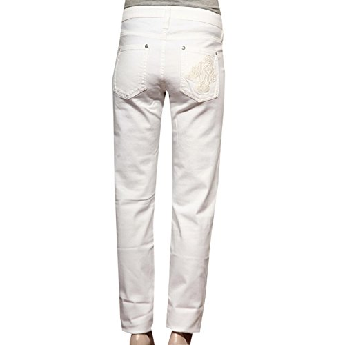 Tasche Trousers Pantaloni Women Bianco Lunghi Cavalli 83067 5 Roberto Jeans Donna RgqCCwXfx