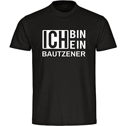 T-Shirt Ich bin ein Bautzener schwarz Herren Gr. S bis 5XL