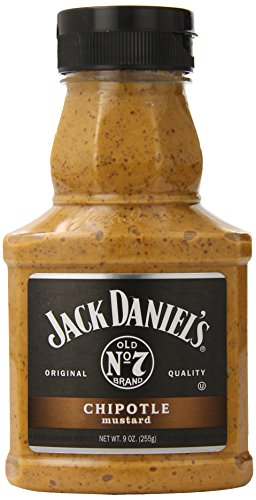 Jack Daniels Mustard, Chipotle, 9 Ounce (Pack of 6)