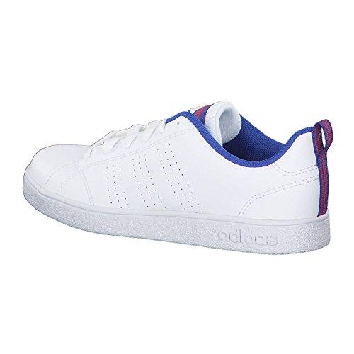 adidas Vs Advantage CL K, Zapatillas de Gimnasia Unisex Niños Blanco (Ftwbla/Ftwbla/Azalre 000)