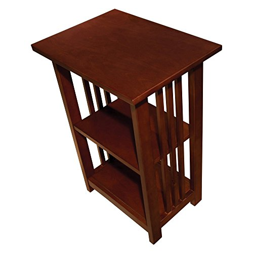 Alaterre Furniture Mission 2 Shelf End Table - (Cherry Mission End Table)
