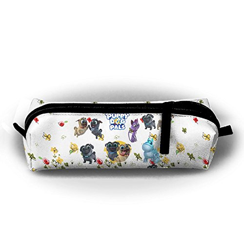 Ssuac Yi66 Puppy Dog Lovely Pals Funny Canvas Pen Pencil Stationery Pouch Bag Case ()