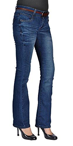 Dark Wash Belted Jeans - 9
