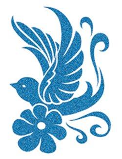Glitter Bird Temporary Tattoo