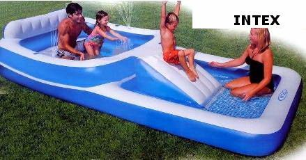 Buy Special Baby Deluxe Inflatable Double Decker Kiddie Pool With Slide 12 39 Long On Sale As