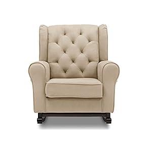 Delta Furniture Emma Upholstered Rocking Chair, Ecru