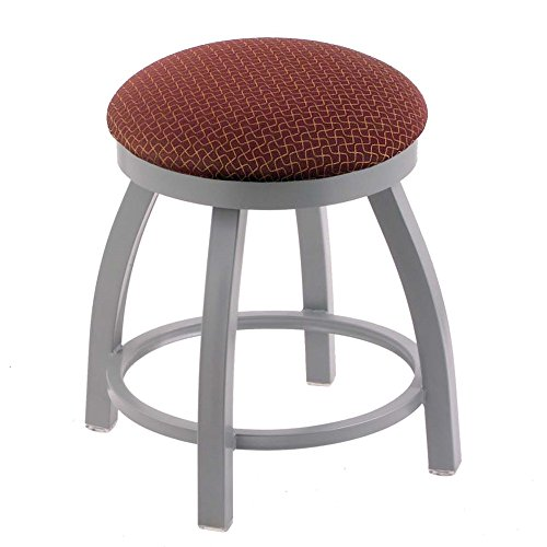 Holland Bar Stool Co. 802 Misha Vanity Stool with Anodized Nickel Finish and Swivel Seat, 18
