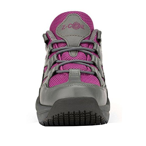 Z-CoiL Women's Freedom Slip Resistant Enclosed CoiL Fuchsia Leather Tennis Shoe 8 C/D US by Z-CoiL (Image #2)