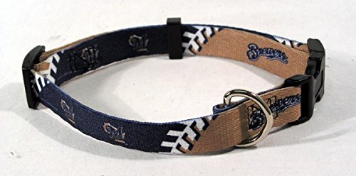 MLB Milwaukee Brewers Adjustable Pet Collar, Team Color, X-Small