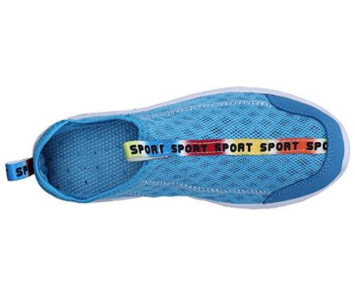 Zapatillas Malla Para Secado Mujer de Rápido Claro Azul XKMON Transpirable Zapatos de Agua de wTHq1Ut