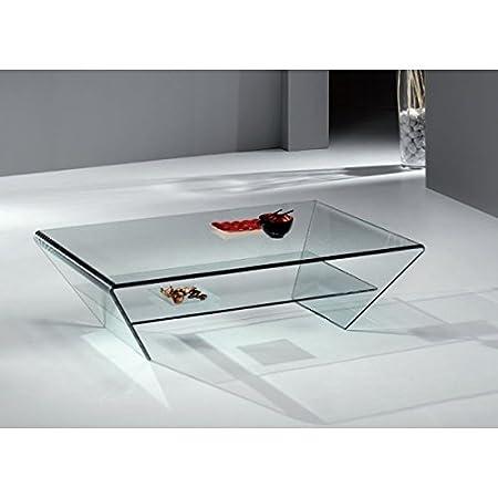 Crespo Decoración Mesa salón Cristal 115 x 65 Ref.FKM5: Amazon.es ...
